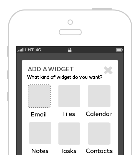 Tap into your services with widgets designed to pull the type of information you'd like to see. How it Works How it Works 1